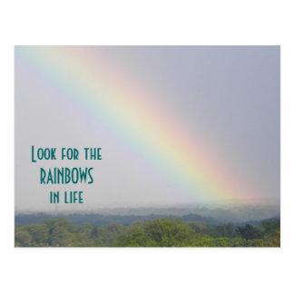 Arco-íris inspirado - cartão