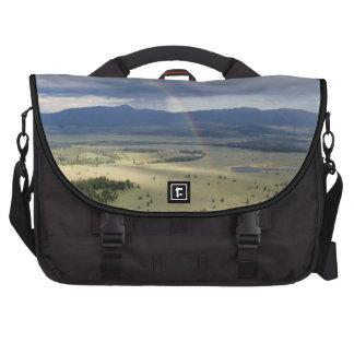 Arco-íris no parque nacional grande de Teton Pastas Para Laptop