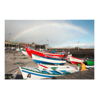 Arco-íris no porto impressão de foto