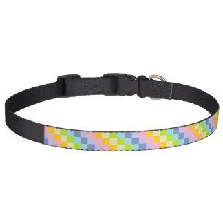 Arco-íris Pastel esquadrado Coleira