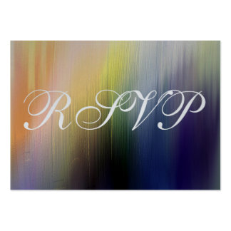 Arco-íris pintado que Wedding o cartão da resposta Cartão De Visita Grande