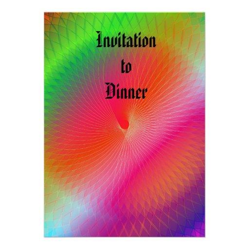 Arco-íris Plafond Convite