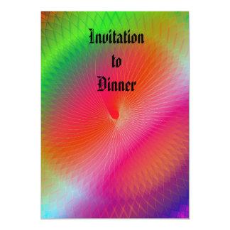 Arco-íris Plafond Convite 12.7 X 17.78cm