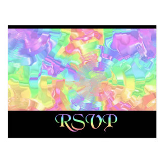 Arco-íris RSVP Cartão Postal
