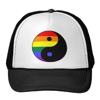 Arco-íris Yin e Yang - cores do arco-íris do Boné