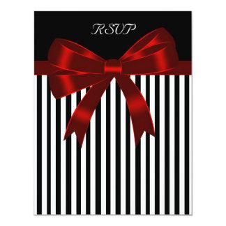Arco vermelho da listra preta que Wedding o cartão
