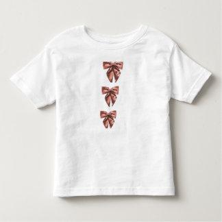 Arcos cor-de-rosa do cetim t-shirts