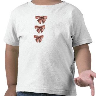 Arcos cor-de-rosa do cetim t-shirt