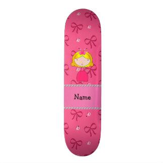 Arcos cor-de-rosa personalizados e diamantes da pr shape de skate 20,6cm