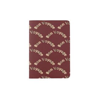 Arcos do bon voyage na obscuridade - vermelho capa para passaporte