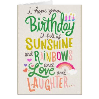 Arcos-íris & cartão da luz do sol