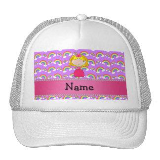 Arcos-íris conhecidos personalizados do roxo da pr boné