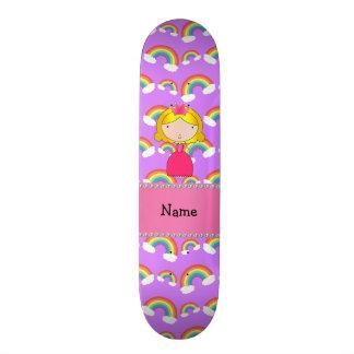 Arcos-íris conhecidos personalizados do roxo da pr shape de skate 20,6cm