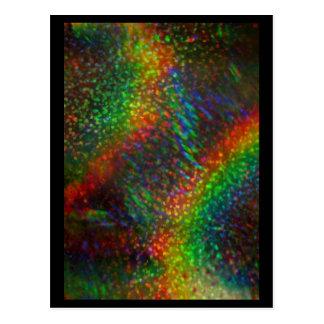 Arcos-íris holográficos de brilho do brilho das lu cartoes postais