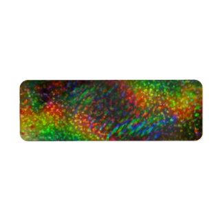 Arcos-íris holográficos de brilho do brilho das lu etiqueta endereço de retorno