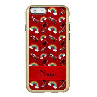Arcos-íris vermelhos conhecidos personalizados dos capa incipio feather® shine para iPhone 6