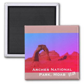 Arcos parque nacional, paisagem de Moab, Utá Ímã Quadrado