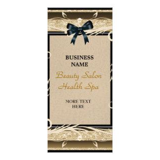 Arcos pretos florais do ouro do cartão da cremalhe panfletos informativos personalizados