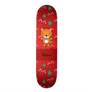 Arcos vermelhos personalizados do Natal da raposa  Shape De Skate 18,4cm