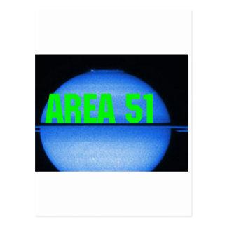 área 51 cartão postal