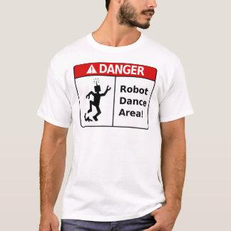 Área da dança do robô do PERIGO! (o t-shirt dos Camiseta