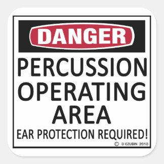 Área de funcionamento da percussão adesivo quadrado