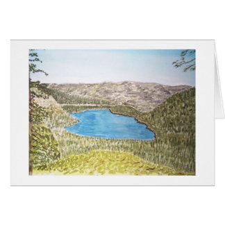 área de Lake Tahoe. lago do donner Cartão Comemorativo