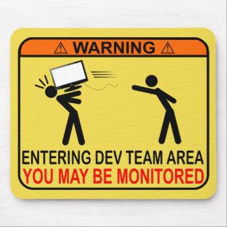 Área entrando da equipe do colaborador - você pode mouse pad