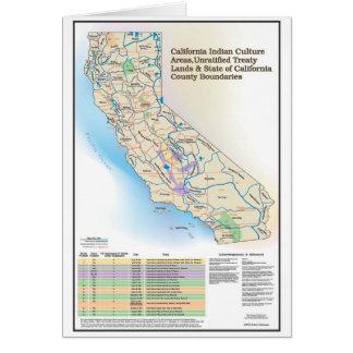 Áreas de cultura indianas de Califórnia - cartão