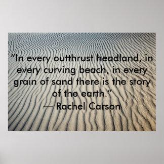 Areia inspirada do poster das citações pôster