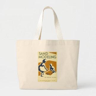 Areia que modela para crianças mais novas bolsas para compras