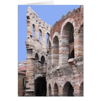 Arena de Verona, Italia - cartão interno do vazio