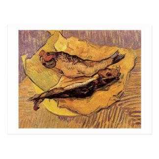 Arenques defumados no papel amarelo, Vincent van Cartão Postal