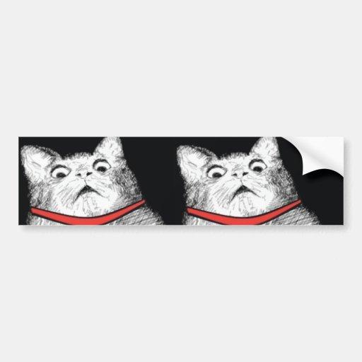 Arfada surpreendida Meme do gato - autocolante no  Adesivos
