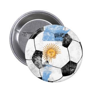 Argentina afligiu o futebol bóton redondo 5.08cm