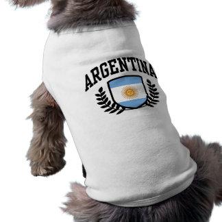 Argentina Camisa Sem Mangas Para Cachorro