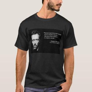 Argumentos racionais & pessoas religiosas camiseta