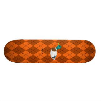 Argyle conhecido personalizado da laranja do pato skate boards