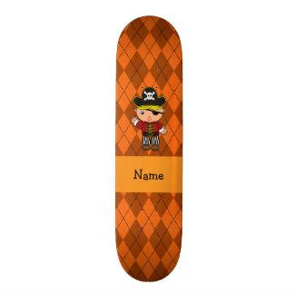 Argyle conhecido personalizado da laranja do pirat skateboard