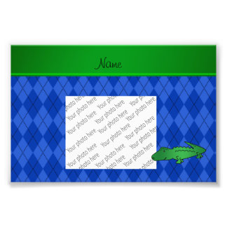 Argyle conhecido personalizado do azul do jacaré impressão de foto