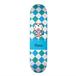 Argyle conhecido personalizado do verde azul da va skateboard