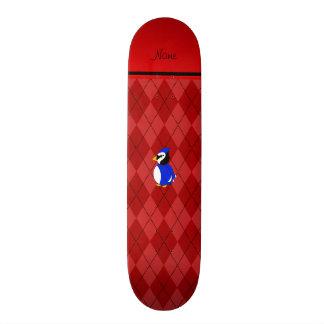 Argyle conhecido personalizado do vermelho do shape de skate 20,6cm