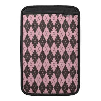 Argyle cor-de-rosa & cinzento bolsas de MacBook
