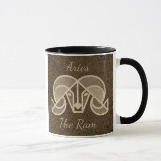 Aries, a ram, caneca de café do sinal do horóscopo
