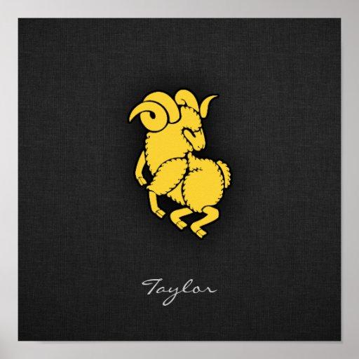 Aries ambarino amarelo posteres