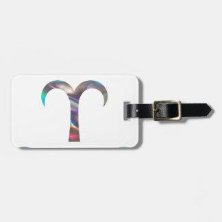 Aries do holograma etiqueta de bagagem