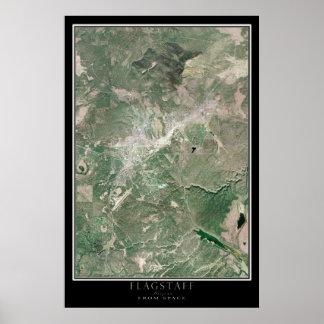 Arizona do mastro do mapa do satélite do espaço pôster
