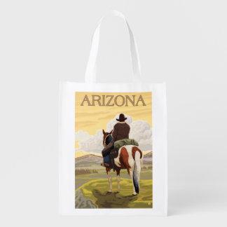 Arizona do vaqueiro (vista da parte traseira) sacolas ecológicas