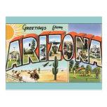 Arizona dos cartão do vintage cartão postal