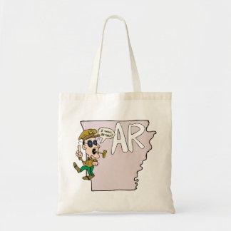 Arkansas AR traça & desenho animado de Douglas Sacola Tote Budget